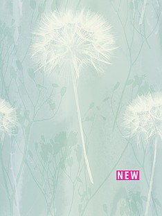 arthouse-dandelion-teal-wallpaper