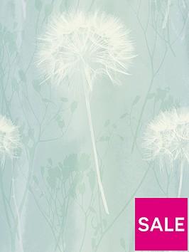 arthouse-dandelion-teal-wallpaper