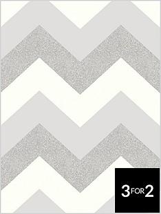 arthouse-glitter-chevron-platinum-wallpaper