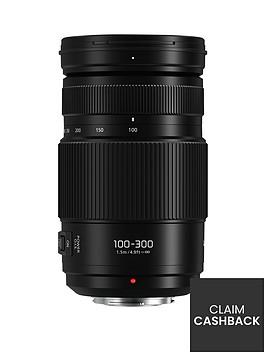panasonic-lumixnbspg-varionbsph-fsa100300e-100-300mmnbspf4-56-lens-h-fsa100300enbspwith-pound100-cashbacknbsp--black