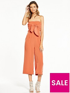 neon-rose-tie-front-bandeau-jumpsuit
