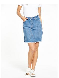 warehouse-5-pocket-denim-skirt