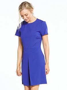 warehouse-box-pleat-dress-purple
