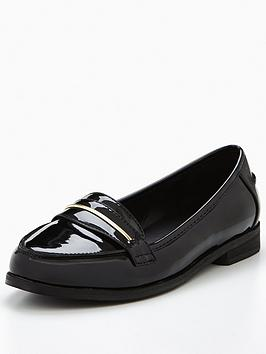 v-by-very-star-patent-gold-trim-loafer-black
