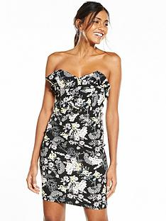 miss-selfridge-floral-bandeau-dress