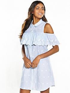 miss-selfridge-miss-selfridge-embroidered-cold-shoulder-shirt-dress
