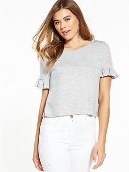 miss-selfridge-lattice-back-stripe-t-shirt
