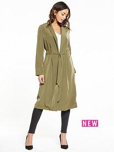 miss-selfridge-channel-waist-duster-coat-khaki