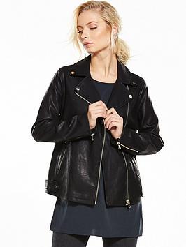 miss-selfridge-oversized-pu-jacket-black