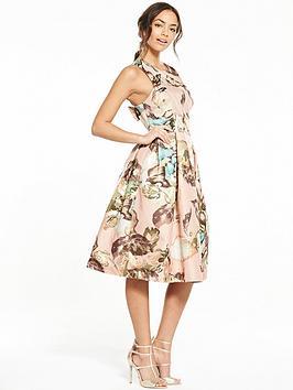 miss-selfridge-printed-bow-back-dress