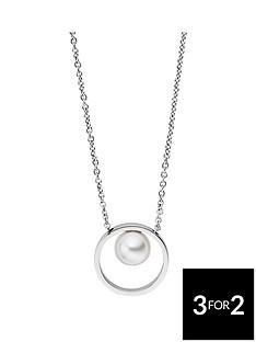skagen-skagen-rhodium-plate-agnethe-pearl-circle-pendant