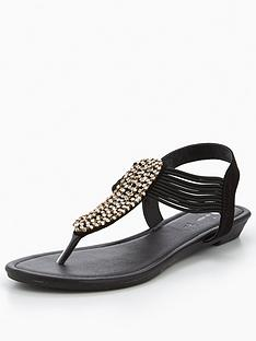 v-by-very-libra-embellished-low-wedge-toe-post-sandal-black