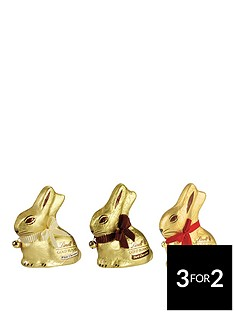 lindt-lindt-gold-bunny-3-x-200gm-milk-white-dark