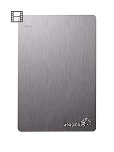 Seagate 4Tb Backup Plus Portable External Hard Drive for PC & Mac with Optional 2 Year Data Recovery Plan - Silver