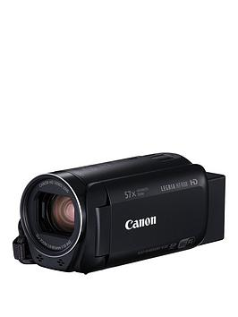 Canon Legria Hf R88 Wifi Camcorder Black Inc Wide-Angle Adapter