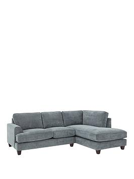 Ideal Home Camden Right Hand Fabric Corner Chaise Sofa