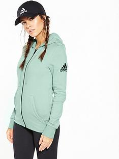 adidas-essentials-full-zip-hoodie-greennbsp