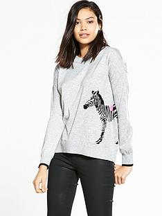 river-island-zebra-jumper