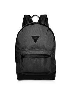 river-island-mens-black-nylon-rucksack