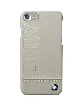 offical-premium-hard-shell-genuine-leather-case-with-embossed-logofor-iphone-7-taupe