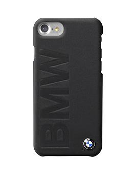 offical-premium-hard-shell-genuine-leather-case-with-embossed-logofor-iphone-7-black