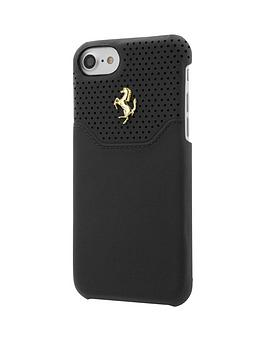 488-official-premium-hard-shell-genuine-leather-case-for-iphone-7-black-with-gold-logo