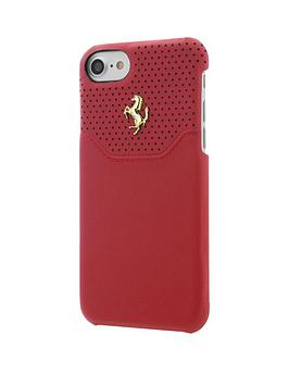488-official-premium-hard-shell-genuine-leather-case-for-iphone-7-red-with-gold-logo