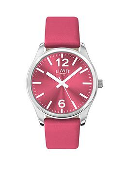 limit-limit-pink-dial-pink-leather-strap-ladies-watch