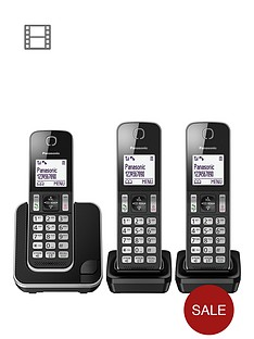 panasonic-kx-tgd313eb-digital-cordless-telephone-3-handsets