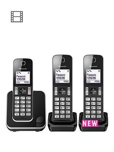 panasonic-panasonic-kx-tgd313eb-digital-cordless-telephone-3-handsets