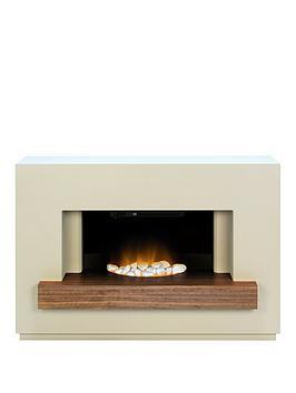 adam-fire-surrounds-sambro-fireplace-suite-in-stone-effect-with-walnut-shelf