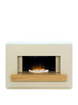 adam-fire-surrounds-sambro-fireplace-suite-in-stone-effect-with-oak-shelf