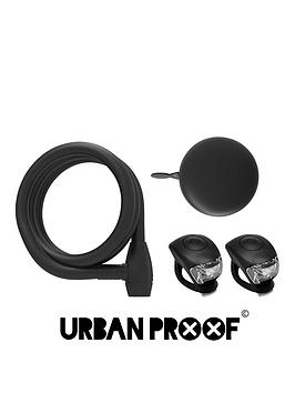 Image of Urban Proof Tring Bell, Sprial Lock And Silicon Light Set