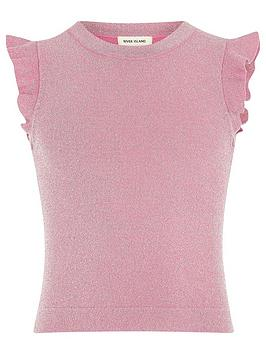 river-island-girls-pink-frill-sleeve-top