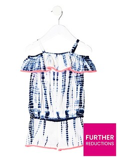 river-island-mini-girls-blue-tie-dye-bardot-top-outfit