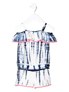 river-island-mini-girls-blue-tie-dye-bardot-top-outfit