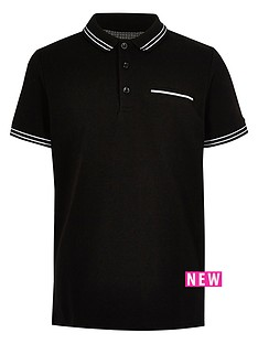 river-island-boys-tipped-short-sleeve-polo-shirt