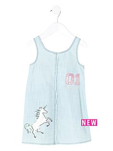 river-island-mini-girls-denim-unicorn-shift-dress