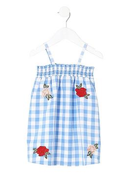 river-island-mini-girls-floral-gingham-trapeze-dress