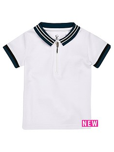 river-island-mini-boys-white-tipped-zip-polo-shirt