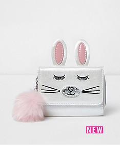 river-island-river-island-girls-trifold-novelty-bunny-purse-with-pom-pom
