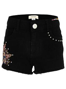 river-island-girls-black-embroided-stud-short