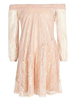 river-island-girls-lace-bardotnbspdress