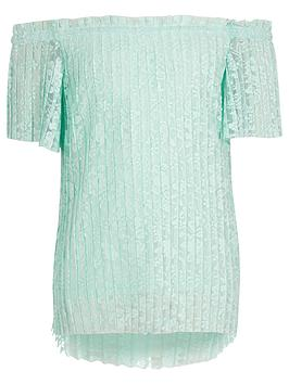 river-island-girls-floral-lace-pleated-bardot-top
