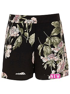 river-island-girls-black-floral-double-layer-shorts