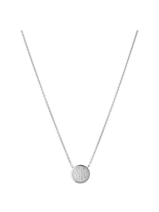 f76cf5aa054b Links of London Links of London Diamond Essentials Sterling Silver & Pave  Round Necklace