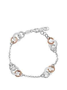 Links of London Aurora Sterling Silver and 18kt Rose Gold Vermeil Multi  Link Bracelet 95b54dd3d