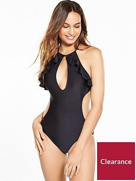 v-by-very-frill-halter-neck-swimsuit-black