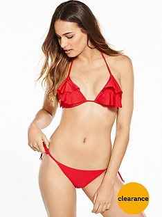 v-by-very-shimmer-ruffle-triangle-bikini-setnbsp--red