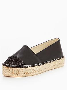 v-by-very-evelyn-glitter-toe-cap-espadrille-black